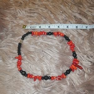 Red and black chunky necklace